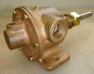 Jabasco Brass Body Pump For Hit And Miss Old Gas Engine 3 4 Pipe Very Nice