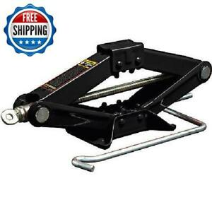 1 5 Ton Scissor Lift Jack W Handle Car Emergency Compact Hydraulic Heavy Duty