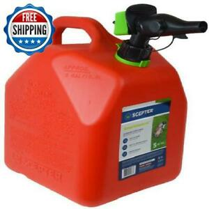5 Gallon Gas Can Spout Fuel 20l Gas Gasoline Fuel Emergency Containers Tank Red
