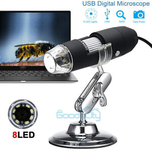 500x Magnifier 8led Usb Digital Microscope Camera For Iphone Android Mac Widows