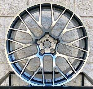 20 Porsche Macan S Turbo Mesh Style Staggered Wheels Rims Gts Gunmetal Machine