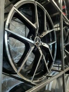 20 Black Staggered Y Amg Style Rims Wheels Fits Mercedes Benz S Class