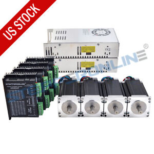 4 Axis Cnc Router Kit 425oz in Nema 23 Stepper Motor Driver Power Supply