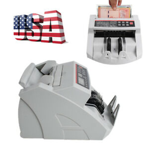 Automatic Money Cash Counting Bill Counter Cash Counterfeit Detector Machine Usd