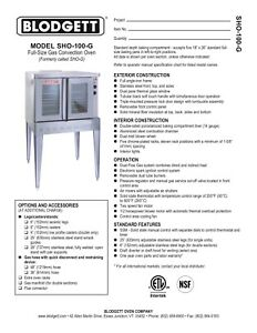 Blodgett Sho 100 g Dbl Convection Gas Oven Double deck New Natural Gas Wcasters