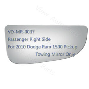 Lower Towing Mirror Glass For 2010 Dodge Ram 1500 Pickup Passenger Side Rh 3926