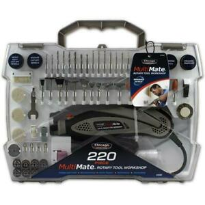 Chicago Power Tools 220pcs Rotary Tool Workshop 63558