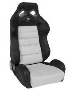 Corbeau Trs Racing Seat Black Grey Microsuede Reclining Passenger Discontinued