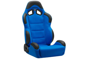 Corbeau Cr1 Racing Seat Blue Cloth Reclining R H Passenger Discontinued Model