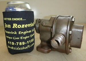 Brown Sharp No 1 Gear Pump For Hit Miss Old Gas Engine 1 2 Pipe Very Nice