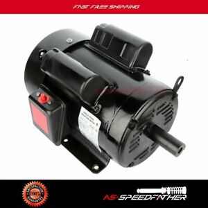 5 Hp Air Compressor Electric Motor agricultural 184t Frame 1725 Rpm 1 Phase Tefc