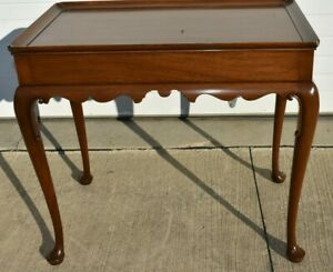 Queen Anne Kittinger Colonial Williamsburg Mahogany Tea Table