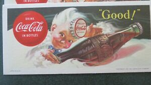 Lot of 4 1953 Coca-Cola Advertising Ink Blotters Unused
