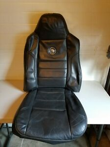 2009 2010 Ford F250 F350 F450 Harley Davidson Driver Seat Leather Cover Black
