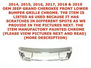 2014 2019 Jeep Grand Cherokee Front Lower Bumper Grille Chrome 68143105ab
