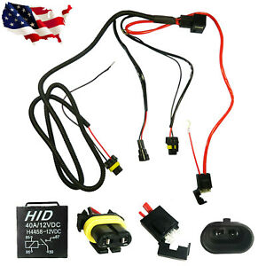 9005 9006 H1 H7 H11 Relay Wiring Harness Hid Headlight Drl Conversion Adapter