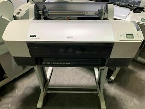 Epson Stylus Pro 7880 24 Wide Format Printer Plotter crated Full Ink Set 220