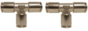 2 Air Suspension System Fittings 1 2 Air Hose Push In To 1 2 3 Way Tee Union