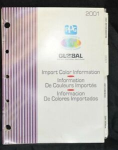 Ppg Paint Color Chips Charts For 2001 Import Cars Trucks Honda Bmw Dox383 201