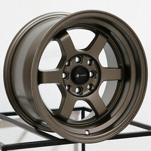 15x8 Vors Tr7 4x100 4x114 3 0 Bronze Wheels Rims Set 4