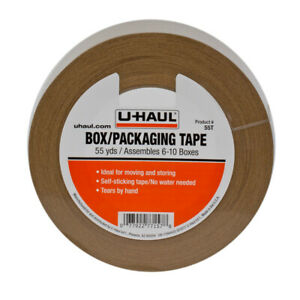 Box Packaging Kraft Paper Tape 55yd Rolls Self Adhesive Self Rippable 6 pack