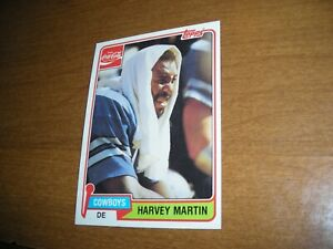 1981 Topps Coca-Cola football card  Harvey Martin  Dallas Cowboiys  #6  ex condi