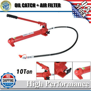10 Ton Hydraulic Jack Pump Ram Replacement For Porta Power Body Shop Tool