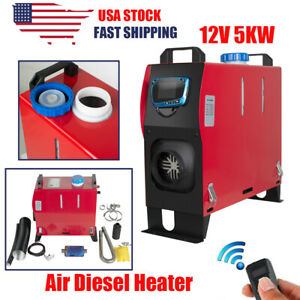 Diesel Fuel Air Heater All In One 12v 5kw Lcd Remote Control For Car Truck Boats