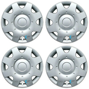 Set Of 4 New 16 8 Spoke Silver Hubcaps Rim Wheel Covers For 1998 2001 Vw Beetle