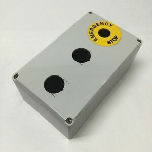 Hoffman Q20129pcd Plastic Pushbutton Enclosure Box 200 X 120 X 85mm holes