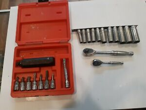Snapon Impact Set And 2 Ratchets With Deepwell Metric Sockets