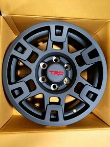 Set Of 4 Toyota Trd Pro Wheels 17 Matte Black Fits Tacoma 4runner Fj Cruiser