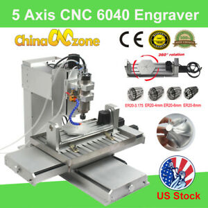 5 Axis Cnc 6040 Router Cutting Milling Engraving Machines Engraver For Aluminum
