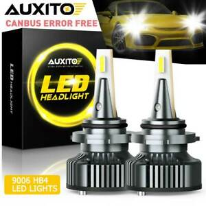 2x Auxito 9006 Hb4 Led Headlight Kit Bulbs 6000k Hid White Canbus 16000lm 72w Aa