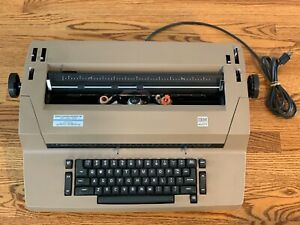 Ibm Selectric Ii Correcting Typewriter Beige With Cover Good Working Condition