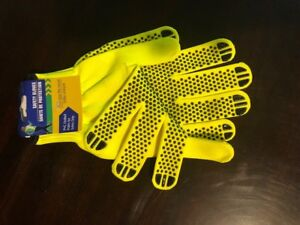 Traffic Control Safety Gloves Neon Yellow Construction Walking Camping
