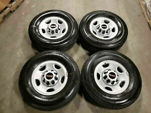 Chevy Gm Van Truck 16 Lt 245 75 R16 Bridgestone 10 Ply Tires Steel Wheels 8x6 5