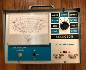 Vintage Auto Tune Engine Analyzer Model Aa 100 With Manual Great Condition Look