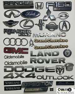 Gmc Dodge Ford Volvo Nissan Jeep Emblems Huge Lot Of Hood Trunk Decals 58pcs Oem