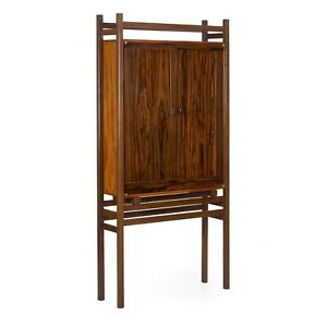 Freestanding Bookshelf Cabinet Modern Benchmade Two Door Bookcase By John Hein