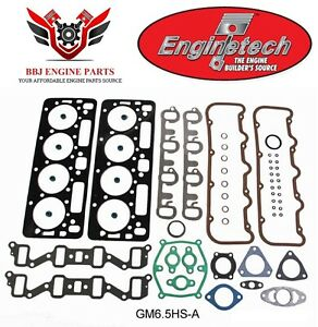 Chevy Chevrolet 6 5 6 5l Diesel 1992 2004 Enginetech Engine Head Gasket Set