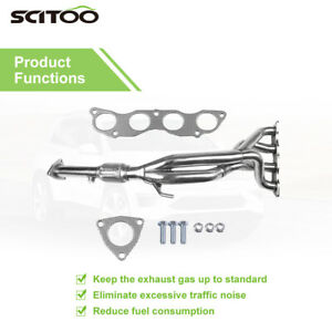 Stainless Manifold Header Downpipe Tri Y Exhaust For Honda Civic Si 2 0l