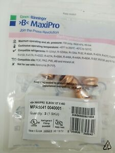 Conex Banninger B press Maxipro 45 Degree Elbow Copper Refrigeration Fitting 3pc