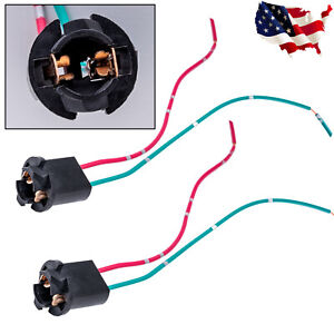 2x T10 168 192 2825 920 928 W5w Led Pig Tail Extension Cable Wire Harness Socket