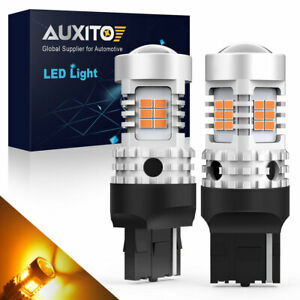Auxito Rear Led Turn Signal Light 7440 7440a 7441 Amber Canbus Anti Hyper Flash