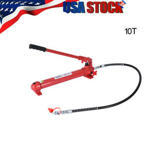10 Ton Hydraulic Porta Power Replacement Pump Ram 4 Long Us Stock Red