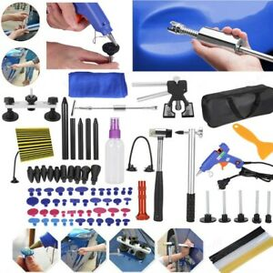 90pc Paintless Dent Repair Puller Lifter Tools T Bar Removal Glue Kit Set