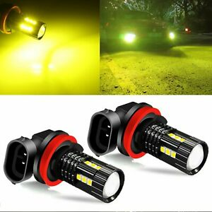 2x H11 H8 3030 3000k Golden Yellow Led Driving Bulbs Fog Light Replacement Kit