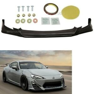 Fits 13 16 Scion Fr S Frs Rs Style Add On Front Bumper Lip Spoiler Body Kit Pu