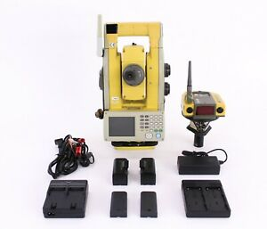 Topcon Qs5a 5 Robotic Total Station Kit W Rc 4r Prism